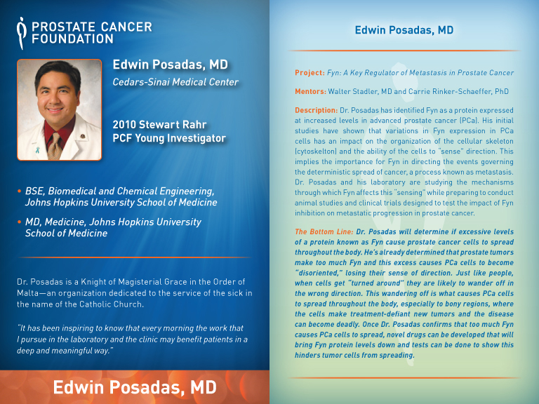 Young Investigator Award-Class of 2010 | Prostate Cancer